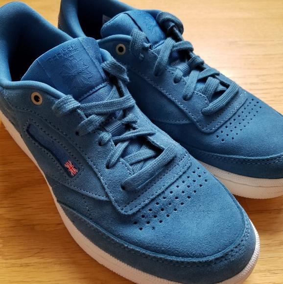 382d3060fd9 Reebok CLUB C 85 MCC Blue Suede Sneakers